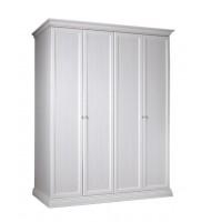 Шкаф 4-х дв. для платья и белья (без зеркала)